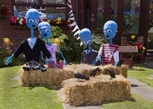Scary blue family