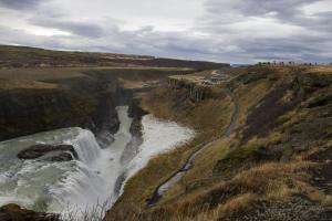 Gullfoss freezing waterfall