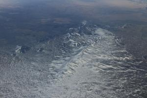 Iceland Volcano from the air